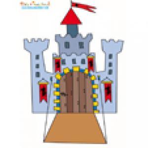 Décoration chateau au pont-levis