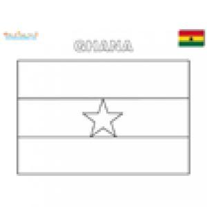 Coloriage drapeau du Ghana