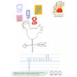 G de girouette un imagier des lettres minuscules