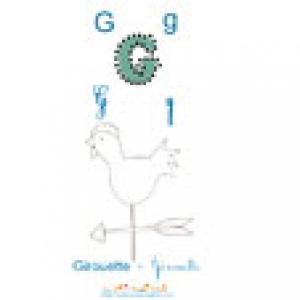"""Imprimer la lettre """"G"""", Apprendre et lire le G comme Girouette"""
