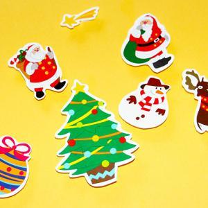 Décorations en gommettes de Noël