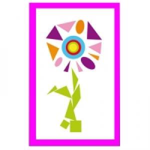 fleur géométrique en gommettes