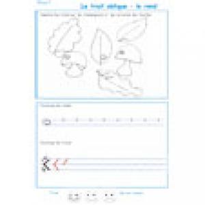 Imprimer la page 1 de graphisme sur le trait oblique et le rond