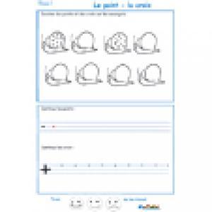 Imprimer la page 1 de graphisme sur les ronds et croix
