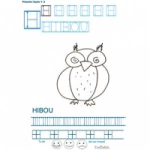 Livre 1 de graphisme et d'écriture en bâton pour écrire les lettres de A à Z