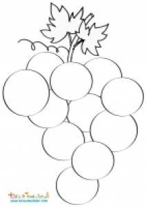 Mosaïque d'une grappe de raisins d'automne