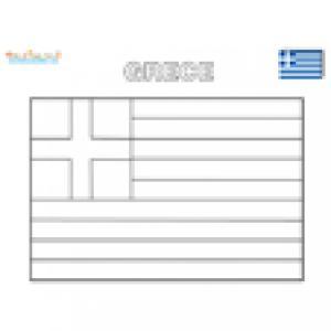 Coloriage du drapeau de la Grèce