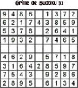 Grille 31 de sudoku cycle 2 du primaire