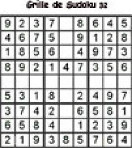 grille 32 de sudoku cycle 2 du primaire