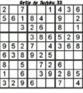 grille 33 de sudoku Primaire cycle 3