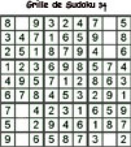 grille 34 de sudoku cycle 2 du primaire