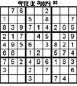 grille 35 de sudoku Primaire cycle 3