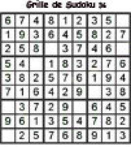 Grille 36 de sudoku cycle 2 du primaire