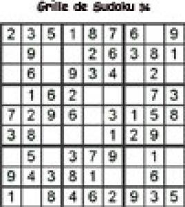 Grille 36 de sudoku Primaire cycle 3