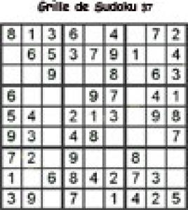 Grille 37 de sudoku Primaire cycle 3