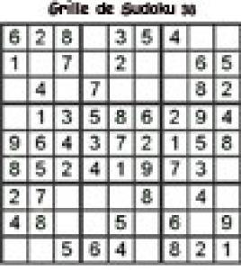 Grille 38 de sudoku Primaire cycle 3