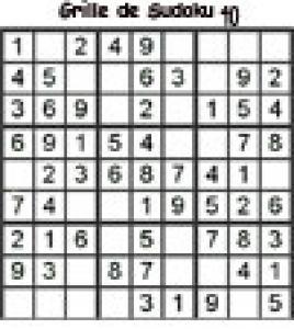 grille 40 de sudoku Primaire cycle 3