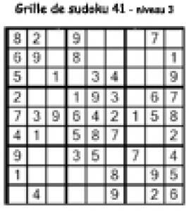 grille 41 de sudoku Primaire cycle 3