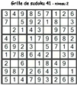 grille 41 de sudoku cycle 2 du primaire