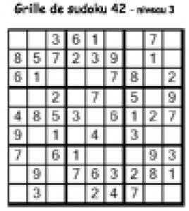 sudoku 42 de niveau 3