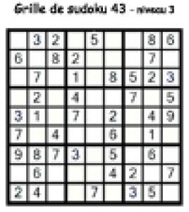 sudoku 43 de niveau 3