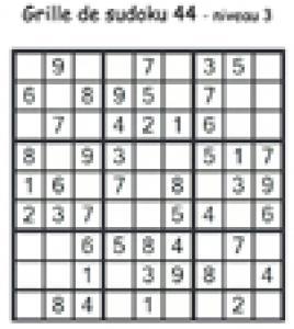 sudoku 44 de niveau 3