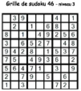 sudoku 46 de niveau 3