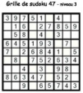 grille 47 de sudoku Primaire cycle 3