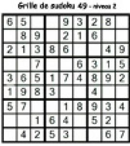 grille 49 de sudoku Primaire cycle 3