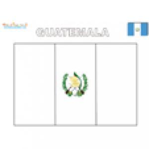 Coloriage du drapeau du Guatemala