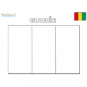 Coloriage du drapeau de la Guinée