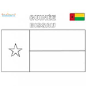 Coloriage du drapeau de guinée bissau
