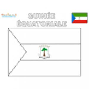 Coloriage du drapeau de guinée équatoriale