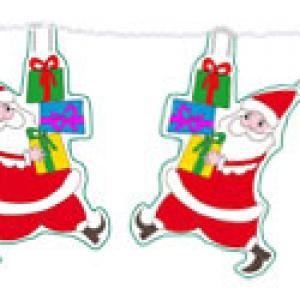Guirlande Père Noël papertoys