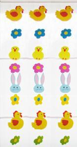 Fabriquer une uirlande de Pâques fleurs et poussins