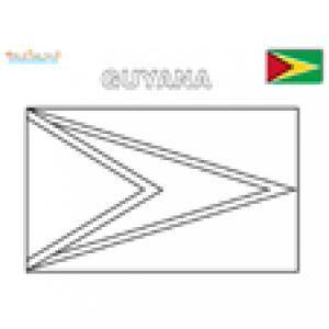 Coloriage du drapeau du Guyana