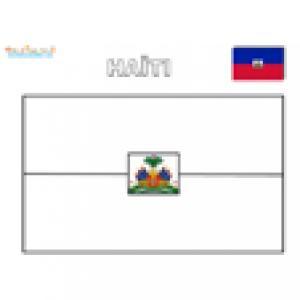 Coloriage du drapeau de Haïti