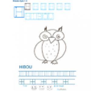 Imprimer la fiche graphisme sur H de HIBOU