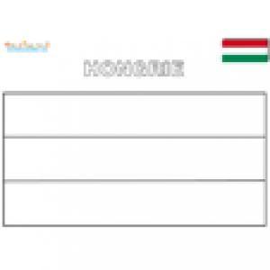 Coloriage du drapeau de la Hongrie