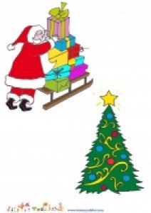 Image pere Noel et image sapin de Noel