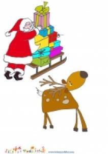 Image de Noel : Image du pere Noel et de son renne