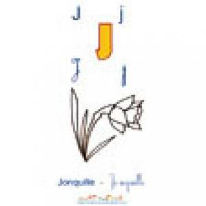 Planche du J de l'imagier majuscules