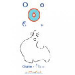 Planche du O de l'imagier majuscules