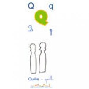 Planche du Q de l'imagier majuscules