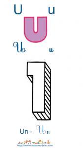 Apprendre le U et colorier le un