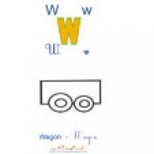 Planche W de l'imagier des majuscules