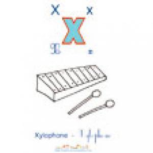 Planche X de l'imagier majuscules