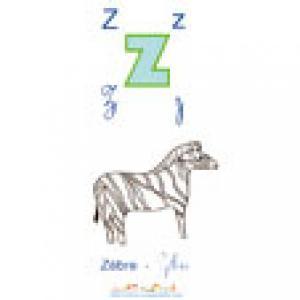 Planche Z de l'imagier majuscules