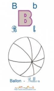 Planche imagier à colorier le ballon