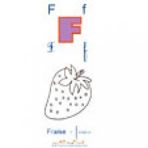 Planche F de l'imagier des majuscules
